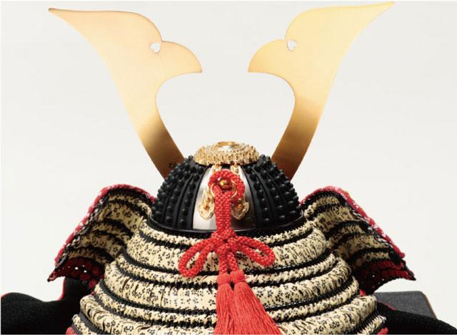 山梨 菅田天神社所蔵 国宝 小桜黄返皮威模写兜飾り No311-D 兜の背後