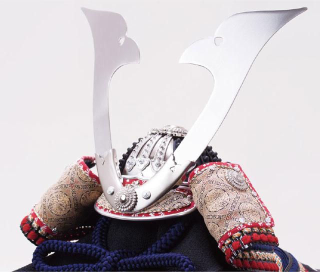 広島 厳島神社所蔵  国宝模写 紺糸威兜飾りNo311-F 兜の部分