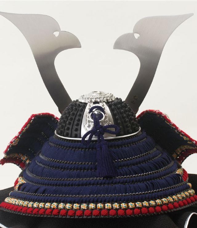 広島 厳島神社所蔵  国宝模写 紺糸威兜飾りNo311-F 兜の背面