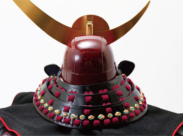 上杉神社蔵 山形県文化財紫糸威具足模写兜 No3131 兜の背面