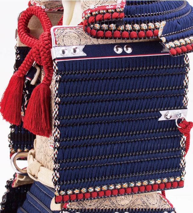 五月人形・国宝模写 紺糸威模写鎧平台飾り No321F 鎧の大袖