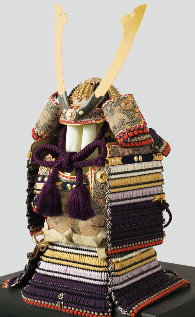 東京 御岳神社所蔵 重要文化財 紫裾濃威大鎧模写 鎧兜飾りNo321G 鎧