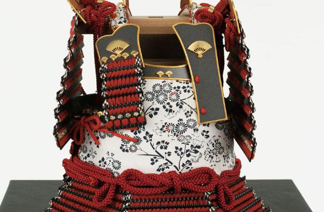 愛媛 大山祇神社所蔵 国宝 赤糸威胴丸鎧模写飾り No321-H 大鎧の弦走り