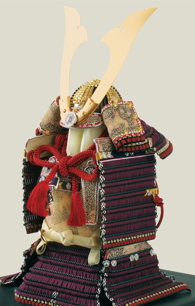 五月人形・大山祇神社所蔵 国宝紫糸威大鎧模写鎧飾りNo321-K 大鎧