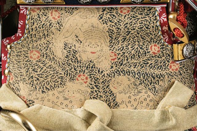 五月人形・大山祇神社所蔵 国宝紫糸威大鎧模写鎧飾りNo321-K 大鎧の弦走り