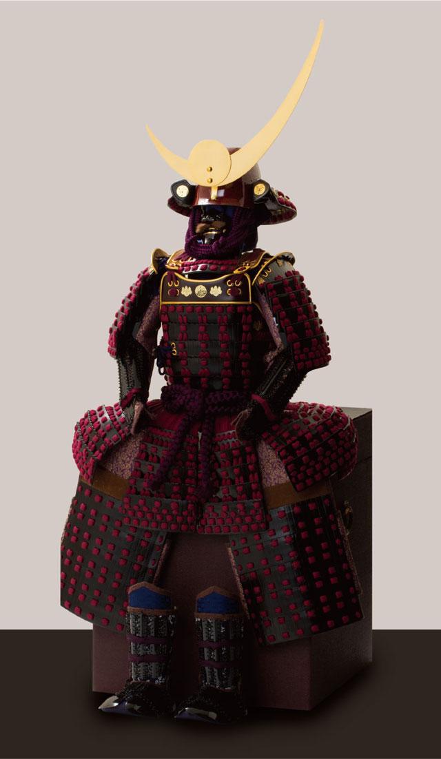 五月人形・上杉神社所蔵 山形県文化財 紫糸威胴丸具足模写 No3231 鎧本体