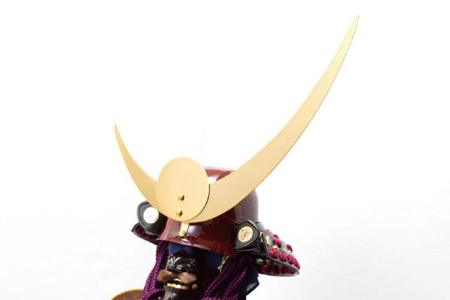 五月人形・上杉神社所蔵 山形県文化財 紫糸威胴丸具足模写 No3231 兜の部分