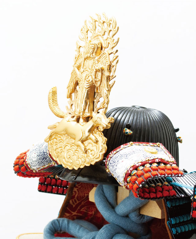 上杉神社所蔵 戦国武将上杉謙信公 色々目威腹巻具足模写 No3232 兜の部分