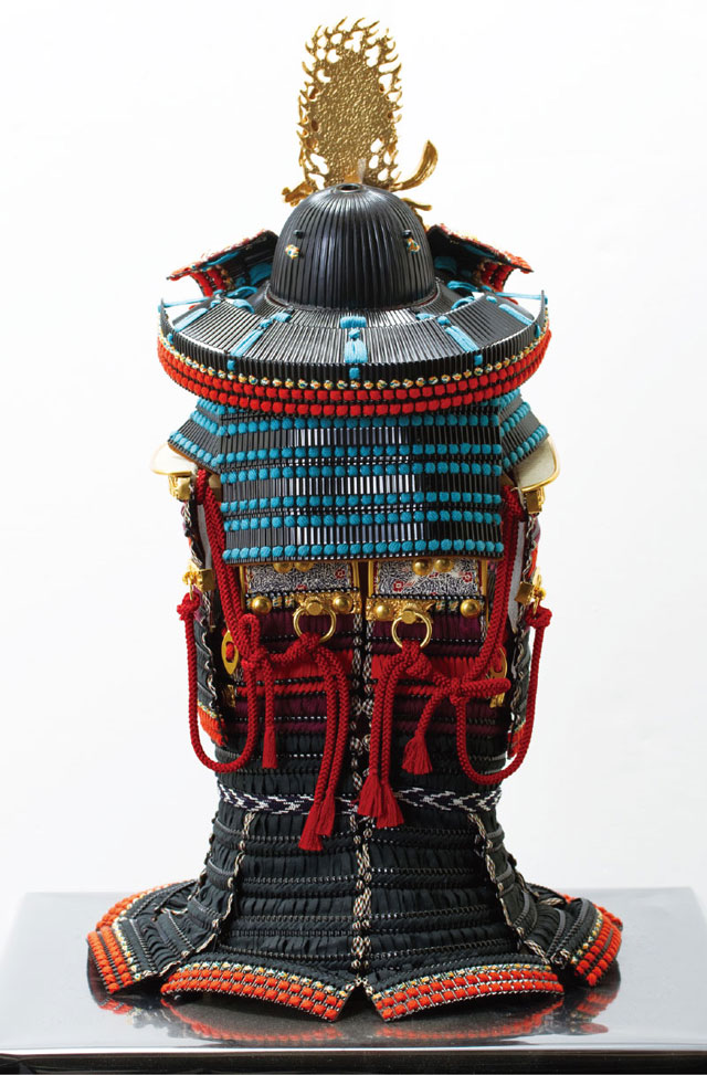 上杉神社所蔵 戦国武将上杉謙信公 色々目威腹巻具足模写 No3232 具足本体の背面