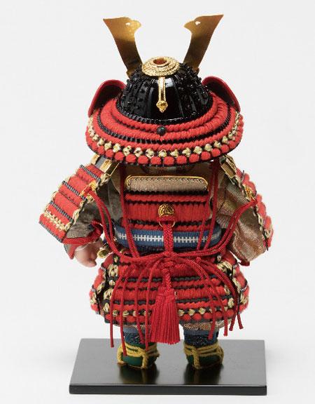 五月人形・子供大将飾り 幸一光作 No3914  背面の姿