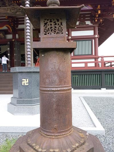 慈恩寺 南蛮鉄燈籠