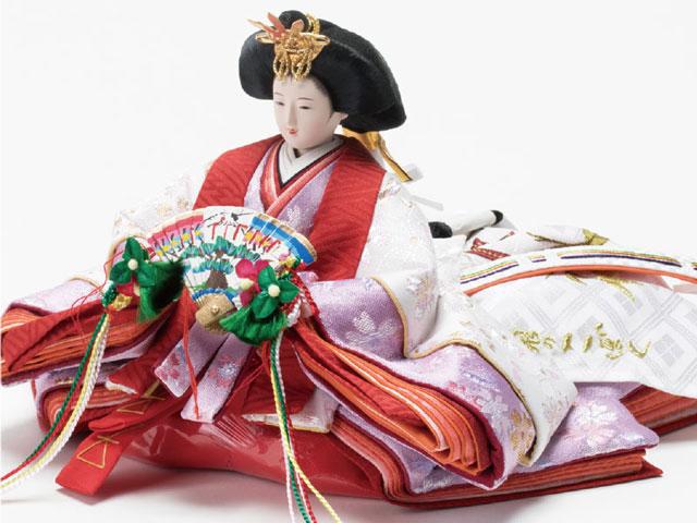 収納飾りの雛人形 親王飾り No1021C 女雛