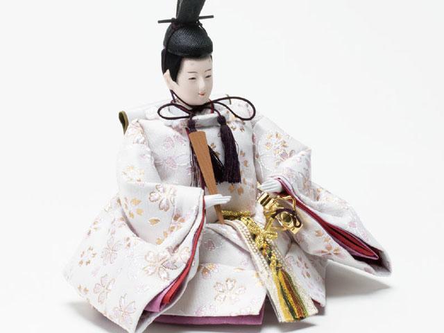 収納飾りの雛人形 親王飾り No1021C 男雛