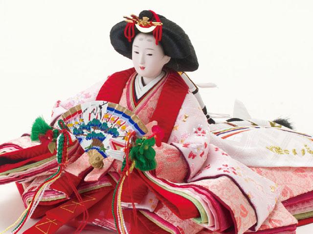 雛人形・京小十番親王焼桐収納飾りNo1020セット 女雛