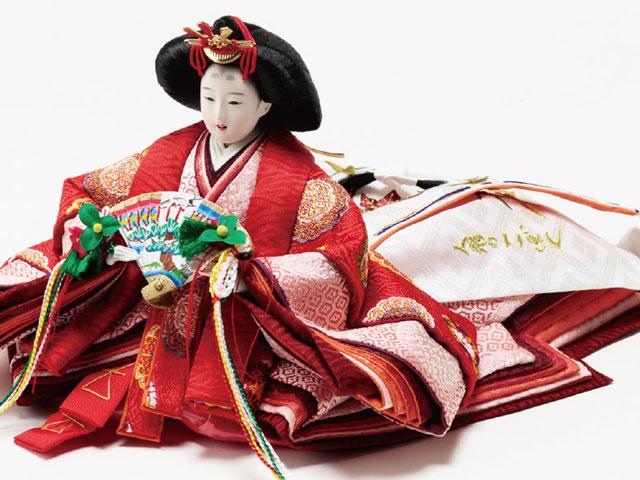 京小十番焼桐平台親王・官女付五人飾りNo1009C 女雛