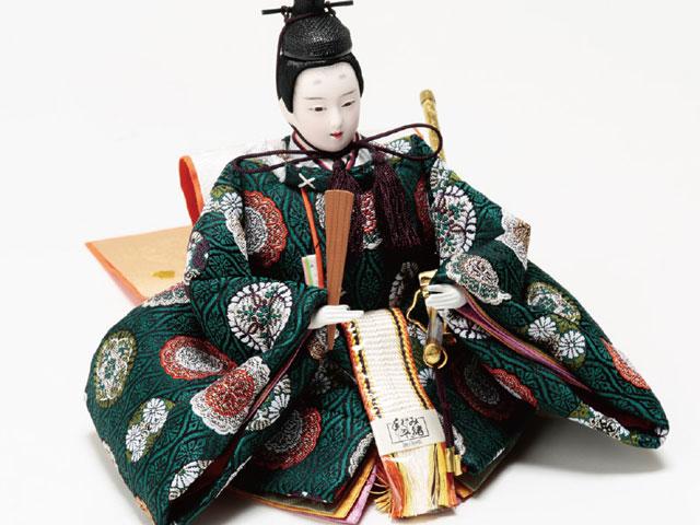京小十番焼桐平台親王・官女付五人飾りNo1009C男雛