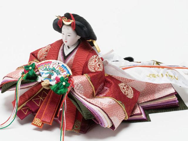 京小十番親王柳官女付焼桐三段飾りセット No3000A 女雛