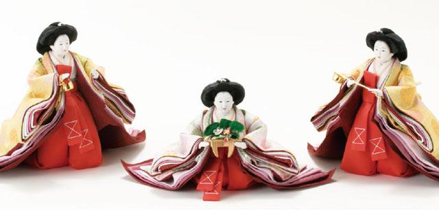 衣装着雛人形 三段飾り No3031B 官女