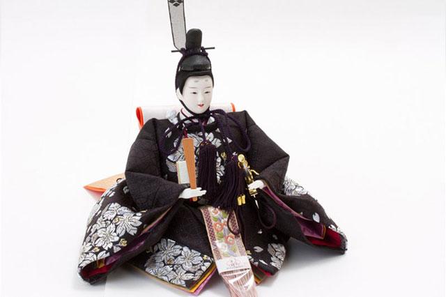 焼桐五段京十番親王芥子13人飾り No5011 男雛の衣装とお顔