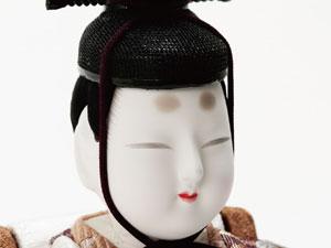 木目込人形 真多呂作 親王平台飾り 寿鶴雛G No2901 男雛のお顔
