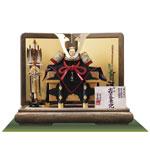 五月人形 国宝模写兜飾り 小桜黄返韋威大鎧模写 四分の一