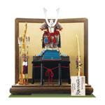 人気の国宝模写 広島 厳島神社所蔵  国宝模写浅葱綾威鎧飾りNo321E