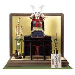 五月人形・人気国宝模写 紺糸威模写鎧平台飾り No321F