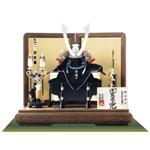 五月人形 広島 厳島神社所蔵  国宝模写浅葱綾威兜飾りNo311E