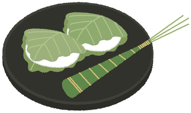 端午の節句には柏餅と粽です 柏餅で子孫繁栄を願います。
