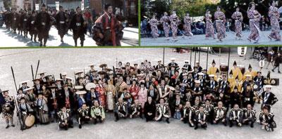 さいたま市 第7回城下町岩槻鷹狩り行列の開催。
