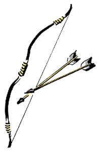 弓矢 魔を祓います。