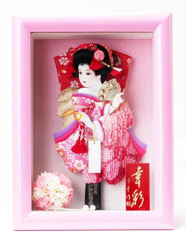 女の子の初正月には羽子板飾りを贈ります。