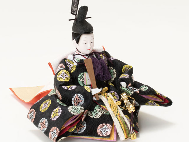 親王飾り・京十二番焼桐平台親王飾りNo1201 男雛の衣装とお顔
