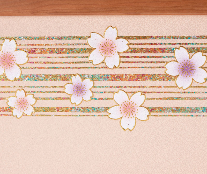 親王飾り・京十二番桜材平台親王飾りNo1301 ひな屏風