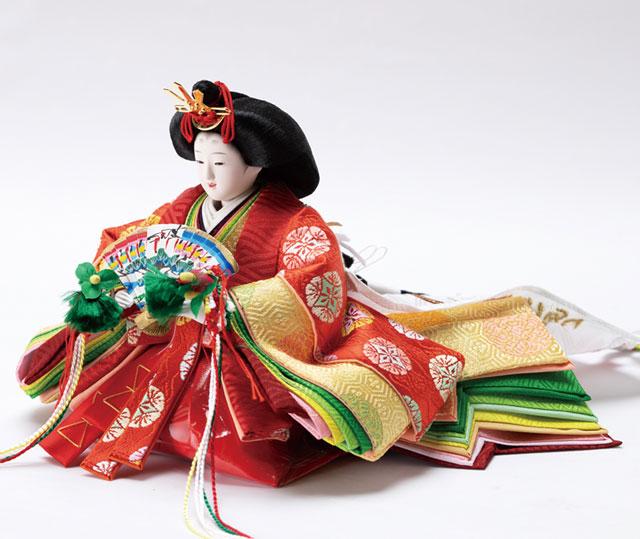 京十二番黒塗り平台親王飾 No1302 女雛の衣装とお顔