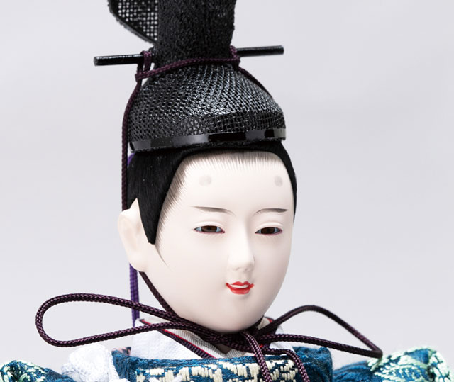 親王飾り・京十番桜材平台立雛親王飾 No1305 男雛のお顔