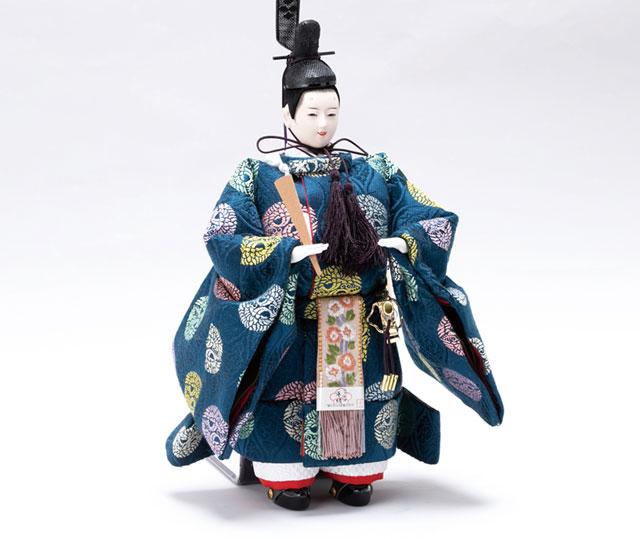 京十番桜材平台立雛親王飾 No1305 男雛の衣装とお顔