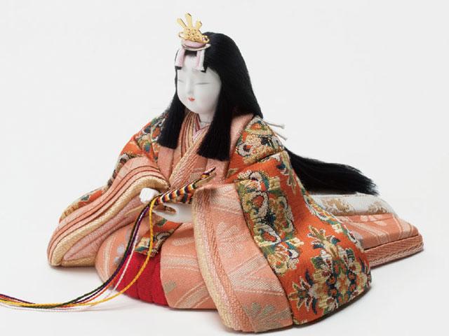 木目込人形 真多呂作 親王・官女五人飾り出雲雛 No27423 女雛のいしょえとお顔