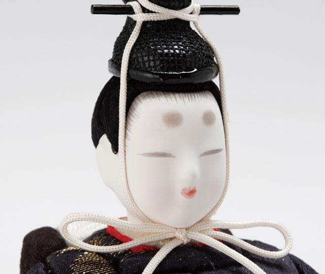 木目込人形 親王飾り  しあわせ金彩 No8709A 男雛のお顔