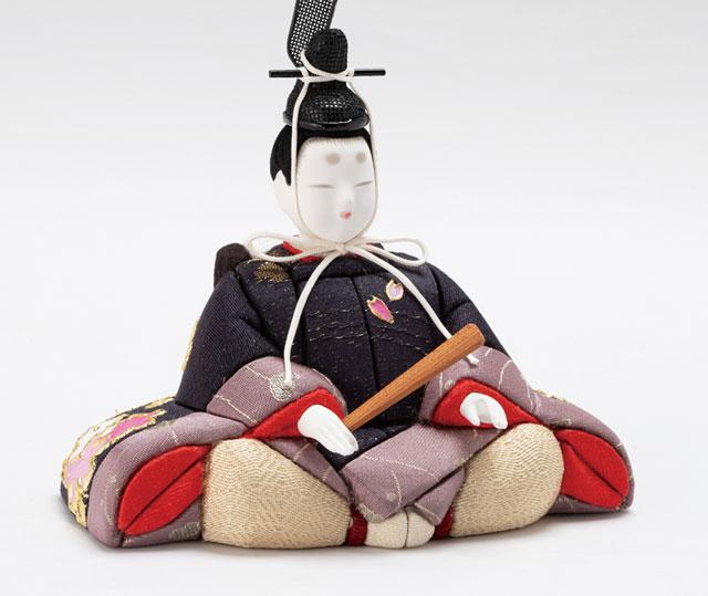 木目込人形 親王飾り  しあわせ金彩 No8709A 男雛の衣装とお顔