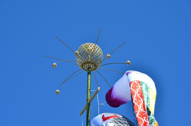 鯉のぼり 竹篭を使った籠玉
