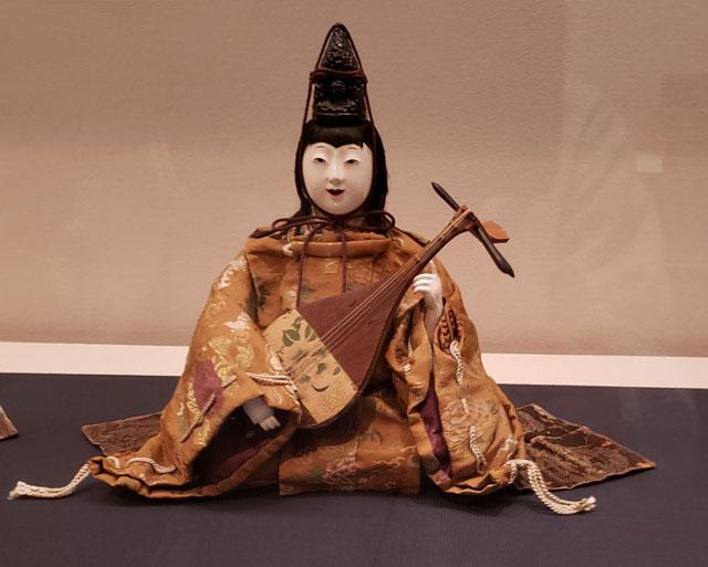 岩槻人形博物館 所蔵品名品  雅楽八人衆 琴