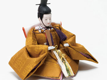 雛人形・京十二番親王No1203 男雛 桐竹鳳凰麒麟の文様の衣装