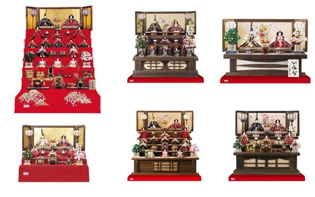 七段飾り・五段飾り・三段飾り・二段飾り・親王飾り・収納飾り・木目込人形・立雛などの小木人形オリジナル雛人形