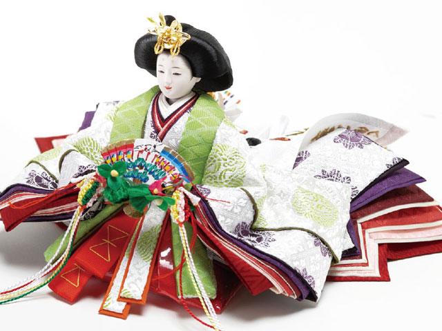 親王飾り・京小十番焼桐平台親王飾りNo1003R 令和雛 女雛のお顔と衣装