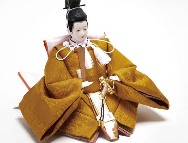 親王飾り・京小十番焼桐平台親王飾りNo1003R 令和雛 男雛の衣装とお顔
