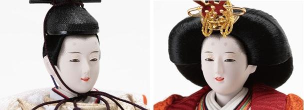 雛人形・京小十二番親王小柳官女付収納焼桐三段飾りNo2996お内裏様のお顔
