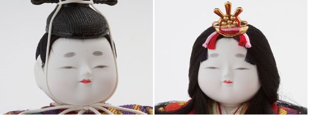 木目込親王飾り 宝永雛 平台飾りNo8703 男雛・女雛の可愛いお顔