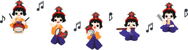 五人囃子の笛太鼓
