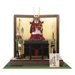 五月人形・国宝模写鎧兜 大山祇神社 源義経公赤糸威之大鎧飾りNo321H